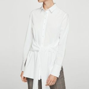 NWT Mango Blouse w/ Front Knot